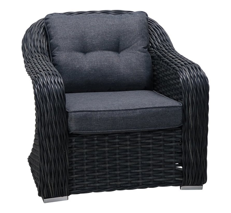 Buffalo XL loungeset antraciet wicker