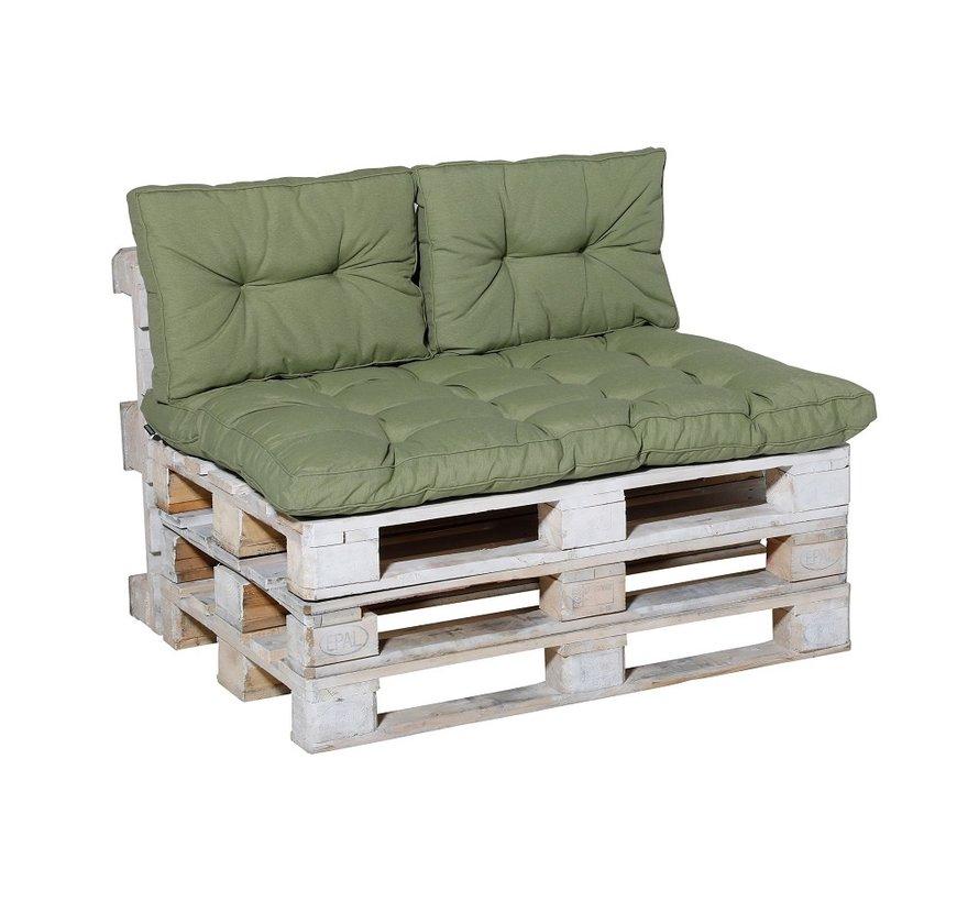 Florance Pallet Kussen 120cm x 80cm voor uw Lounge- of Tuinset | Panama Sage Groen