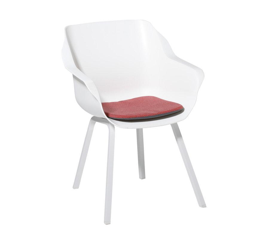 Sophie Outdoor Sitzkissen für Gartensessel 40x40cm Manchester Rot