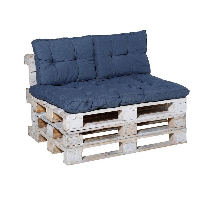 Panama Palettenkissen für Gartenmöbel 120 x 80cm Saphir Blau