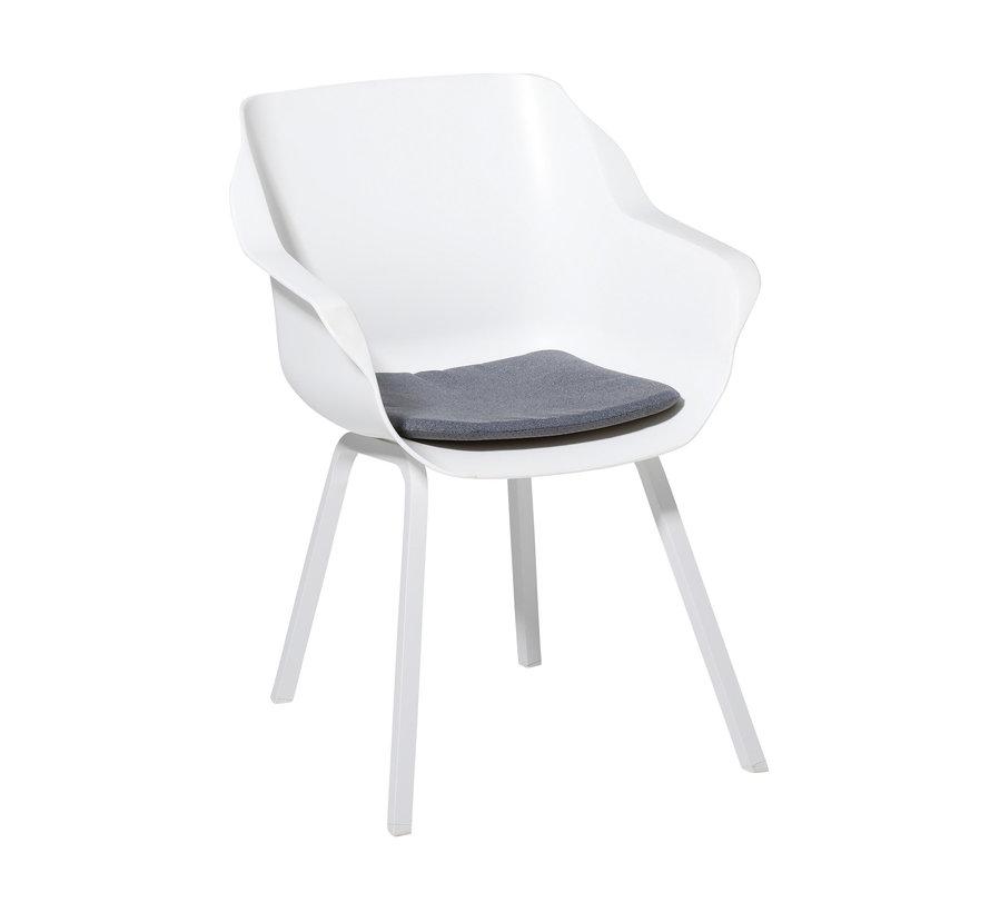Sophie Outdoor Sitzkissen für Gartensessel 40x40cm Manchester Denim Grau