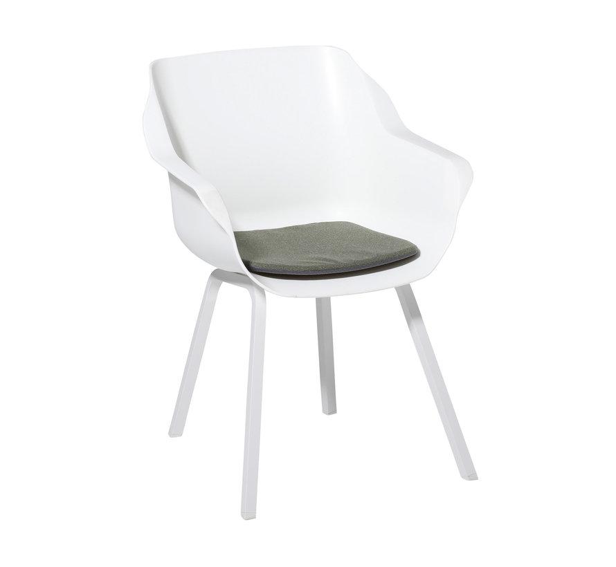 Sophie Outdoor Sitzkissen für Gartensessel 40x40cm Manchester Grün