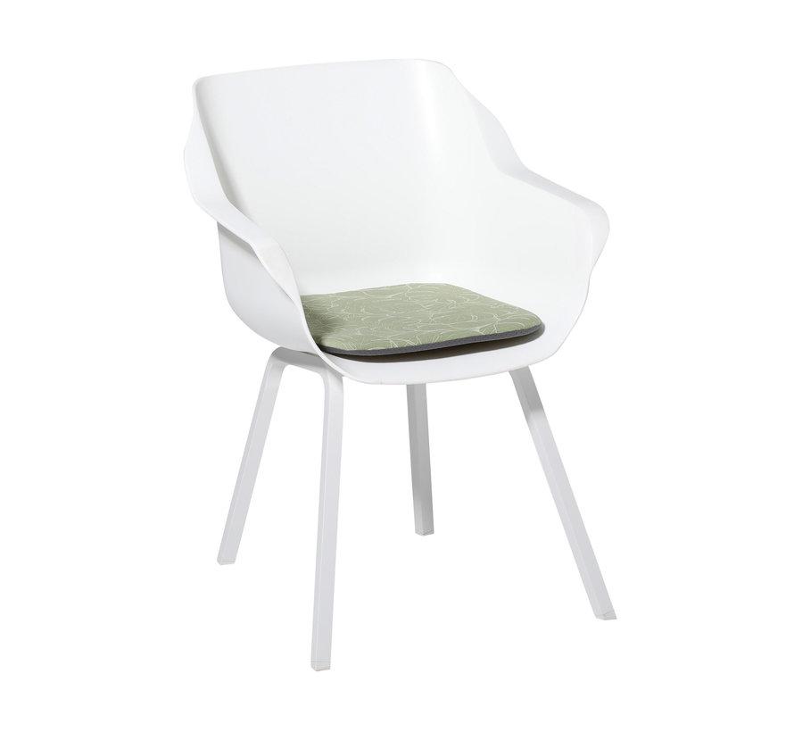 Sophie Outdoor Sitzkissen für Gartensessel 40x40cm Palm Grün