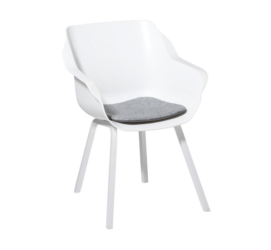 Sophie Outdoor Sitzkissen für Gartensessel 40x40cm Palm Grau