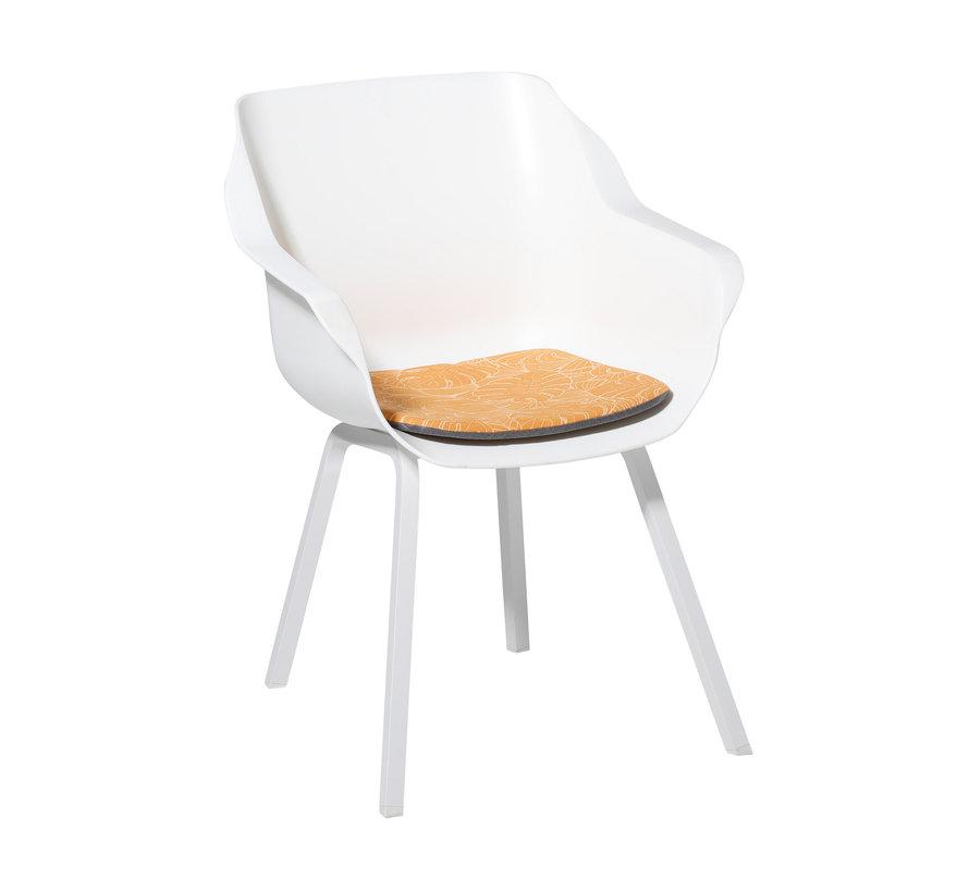 Sophie Outdoor Sitzkissen für Gartensessel 40x40cm Palm Gelb