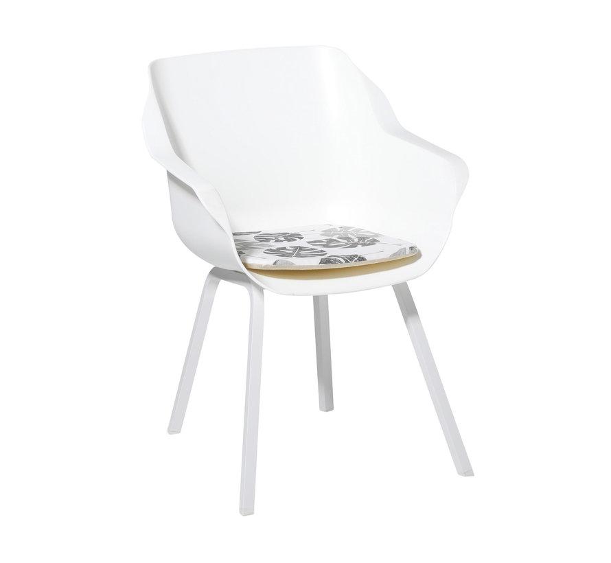 Sophie Outdoor Sitzkissen für Gartensessel 40x40cm Donna Grau