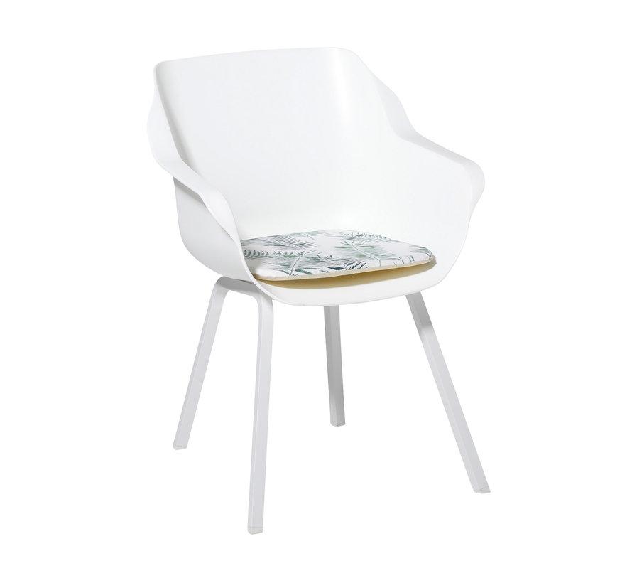 Sophie Outdoor Sitzkissen für Gartensessel 40x40cm Flora Grün
