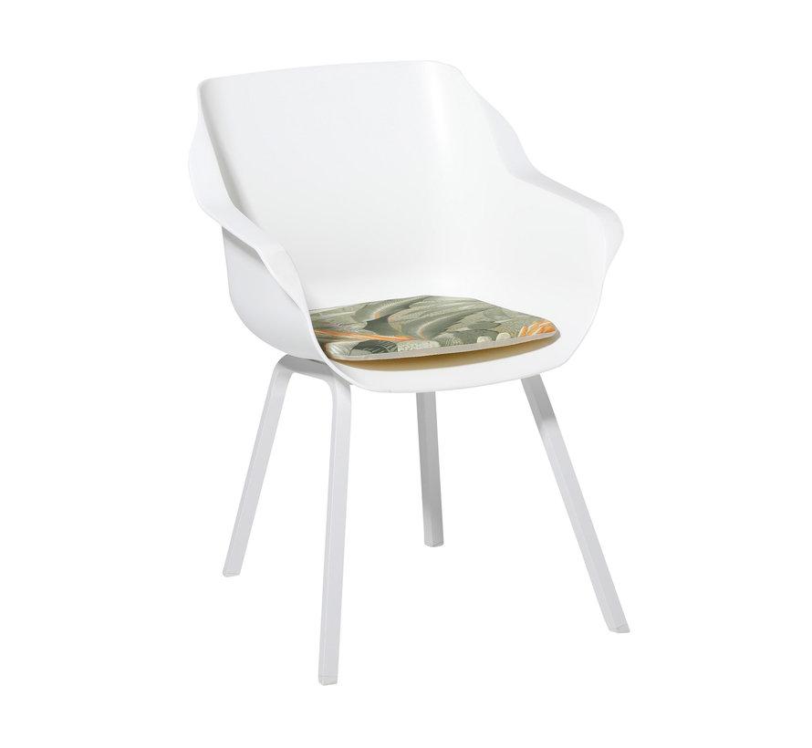 Sophie Outdoor Sitzkissen für Gartensessel 40x40cm Vintage Grün