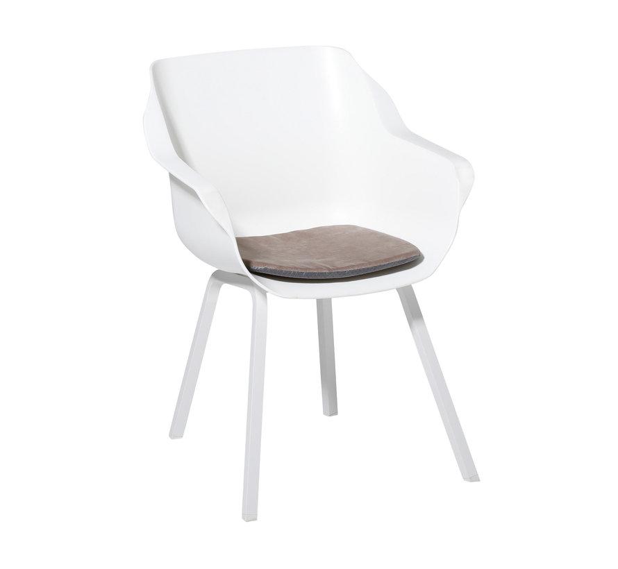 Sophie Outdoor Sitzkissen für Gartensessel 40x40cm Velvet Taupe
