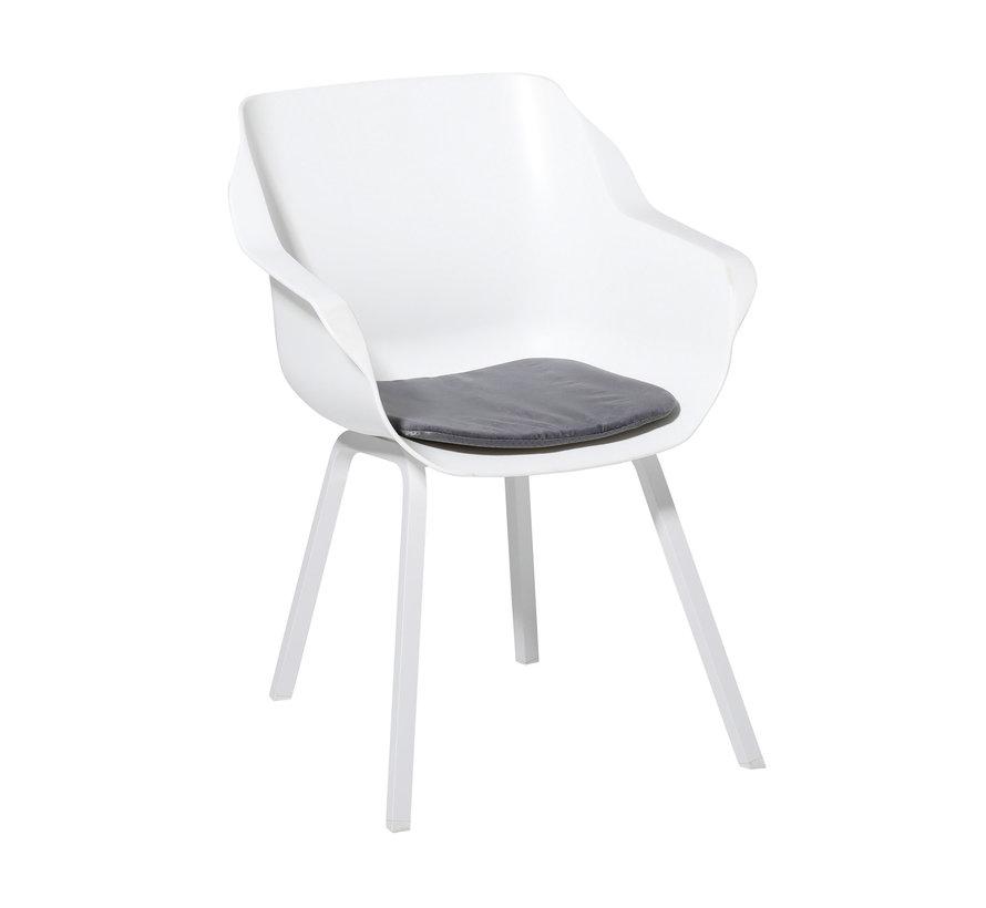 Sophie Outdoor Sitzkissen für Gartensessel 40x40cm Velvet Grau