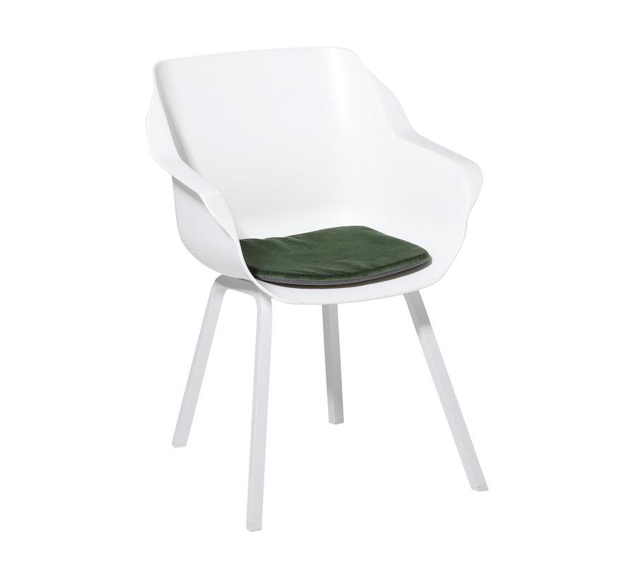 Sophie Outdoor Sitzkissen für Gartensessel 40x40cm Velvet Grün