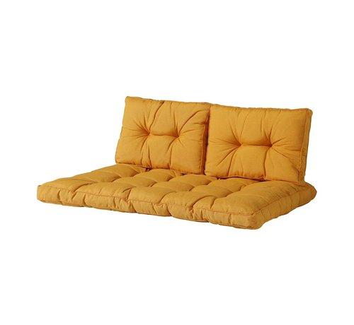 Madison Florance Palettenkissen mit 2 Rückenkissen für Ihre Loungegarnitur | Panama Gelb