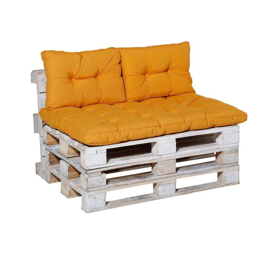 Florance Palettenkissen mit 2 Rückenkissen für Ihre Loungegarnitur | Panama Gelb