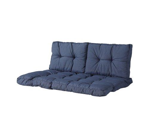 Madison Florance Palettenkissen mit 2 Rückenkissen für Ihre Loungegarnitur | Panama Saphir Blau