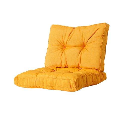 Madison Florance Zitkussen met 1 Rugkussen voor uw Lounge- of Tuinset | 60x60cm | Panama Geel