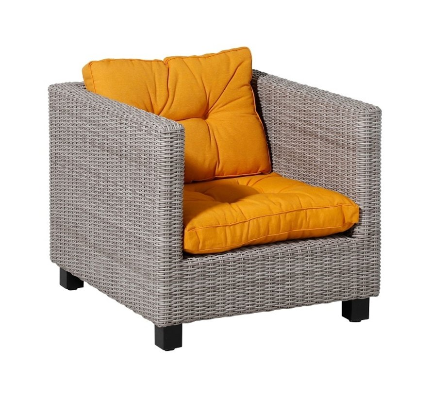 Florance Zitkussen met 1 Rugkussen voor uw Lounge- of Tuinset | 60x60cm | Panama Geel