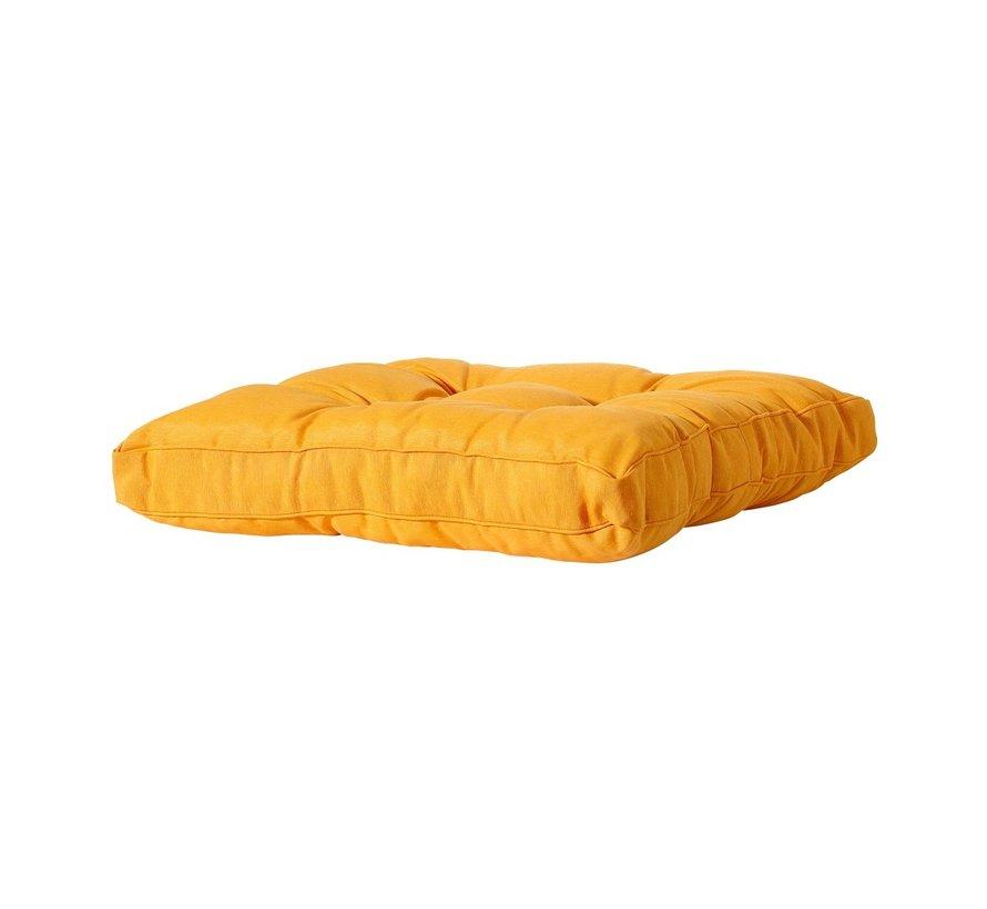 Florance Palettenkissen mit 1 Rückenkissen für Ihre Loungegarnitur | 60x60cm| Panama Gelb
