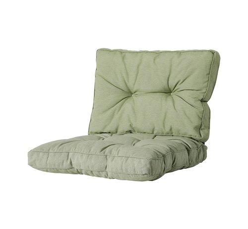 Madison Florance Zitkussen met 1 Rugkussen voor uw Lounge- of Tuinset | 60x60cm | Panama Sage Groen