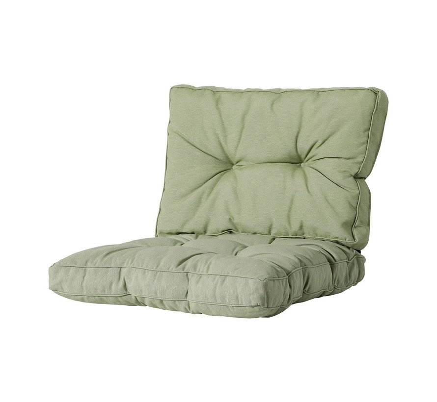 Florance Zitkussen met 1 Rugkussen voor uw Lounge- of Tuinset | 60x60cm | Panama Sage Groen