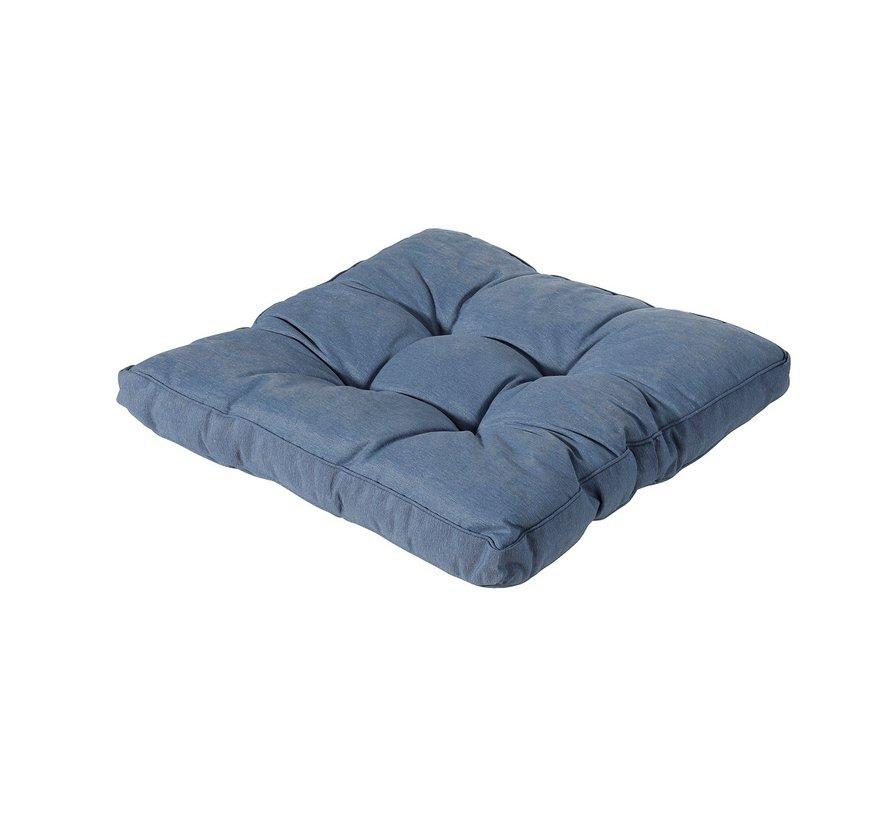Florance Palettenkissen mit 1 Rückenkissen für Ihre Loungegarnitur | 60x60cm | Panama Saphir Blau