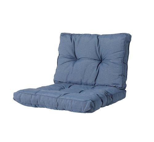 Madison Florance Zitkussen met 1 Rugkussen voor uw Lounge- of Tuinset | 60x60cm | Panama Saffier Blauw