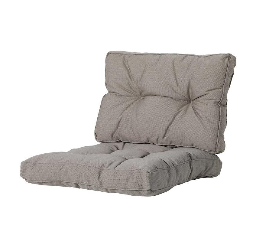 Sitzkissen und Ruckenkissen für Loungemöbel und Garnitur Florance | Rib Taupe