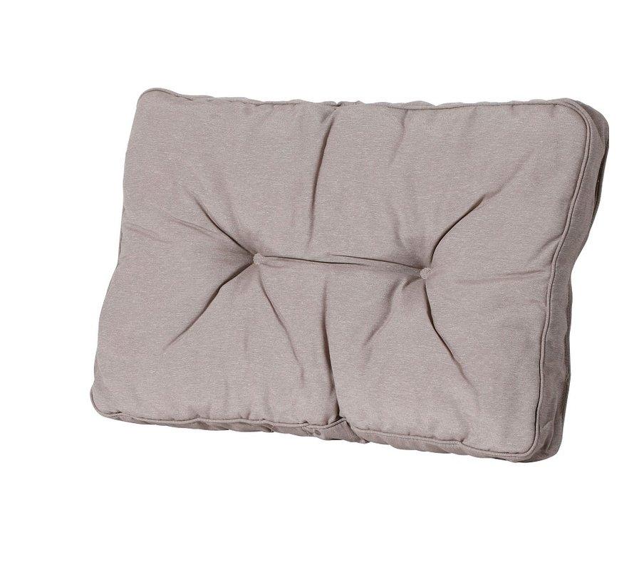 Florance Palettenkissen mit 1 Rückenkissen für Ihre Loungegarnitur | 60x60cm | Panama Taupe