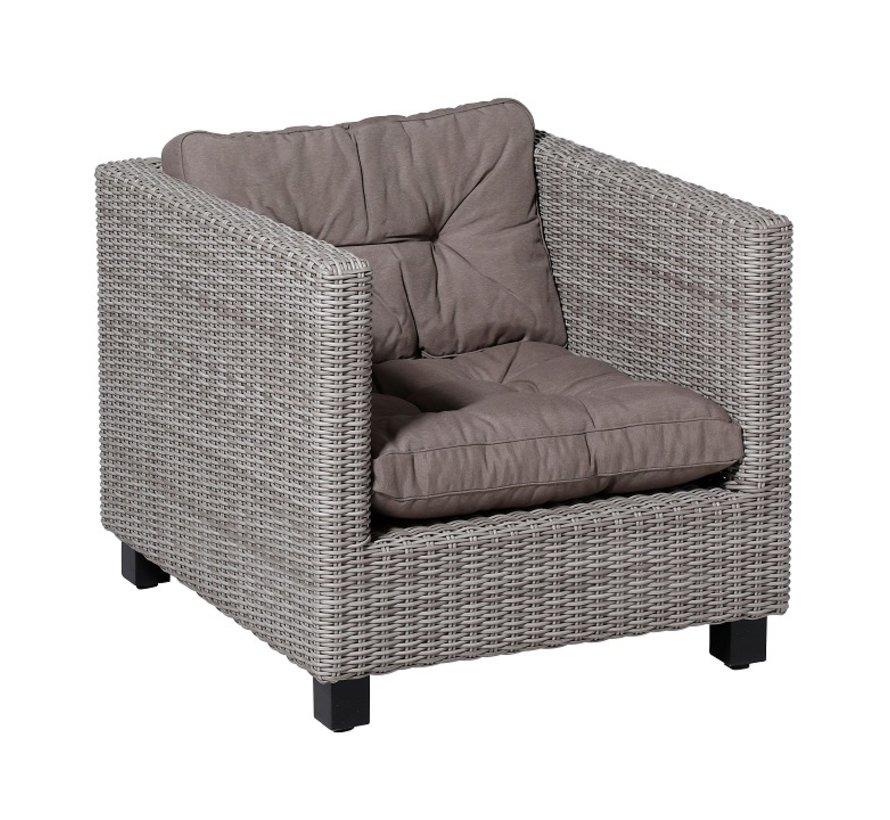 Florance Zitkussen met 1 Rugkussen voor uw Lounge- of Tuinset | 60x60cm | Panama Taupe