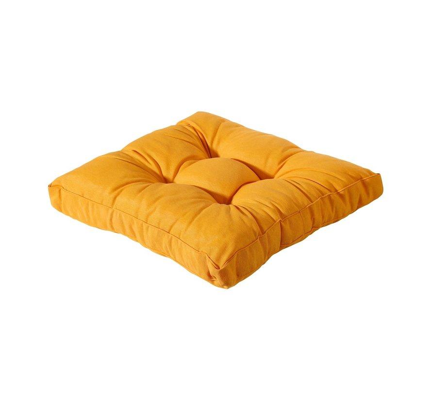 Florance Palettenkissen mit 1 Rückenkissen für Ihre Loungegarnitur   73x73cm   Panama Gelb