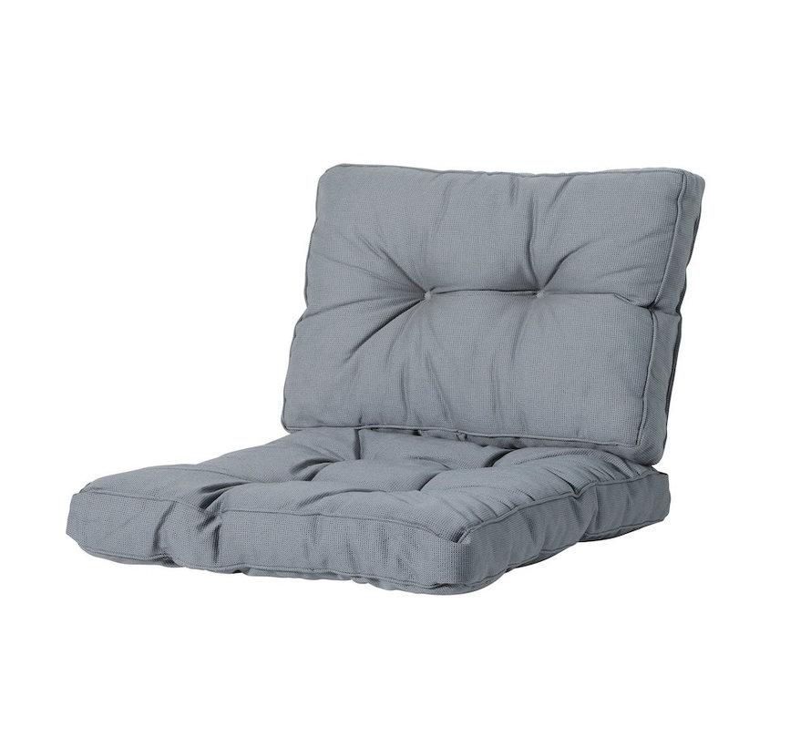 Sitzkissen und Ruckenkissen für Loungemöbel und Garnitur Florance | Rib Grau