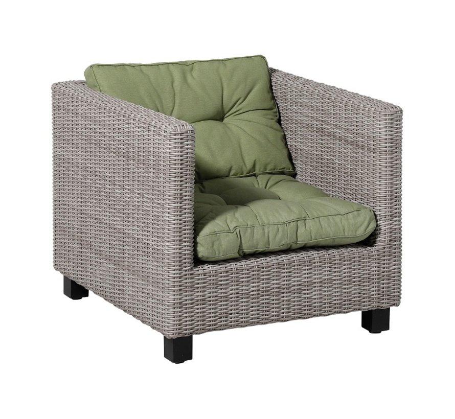 Florance Zitkussen met 1 Rugkussen voor uw Lounge- of Tuinset   73x73cm   Panama Sage Groen