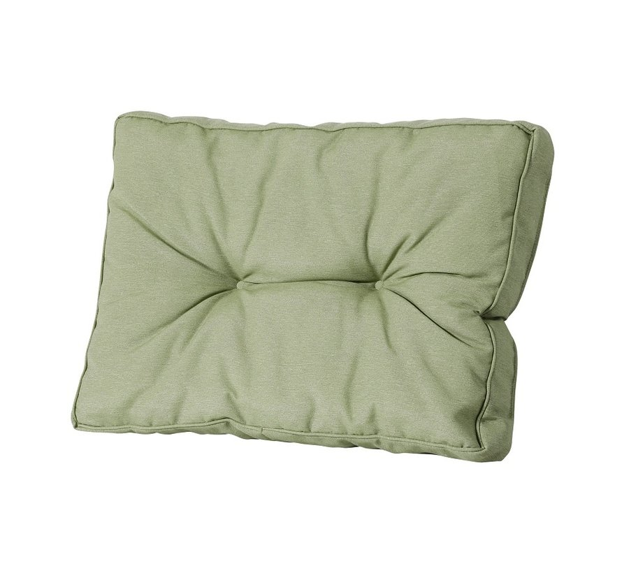 Florance Palettenkissen mit 1 Rückenkissen für Ihre Loungegarnitur | 73x73cm | Panama Sage Grün