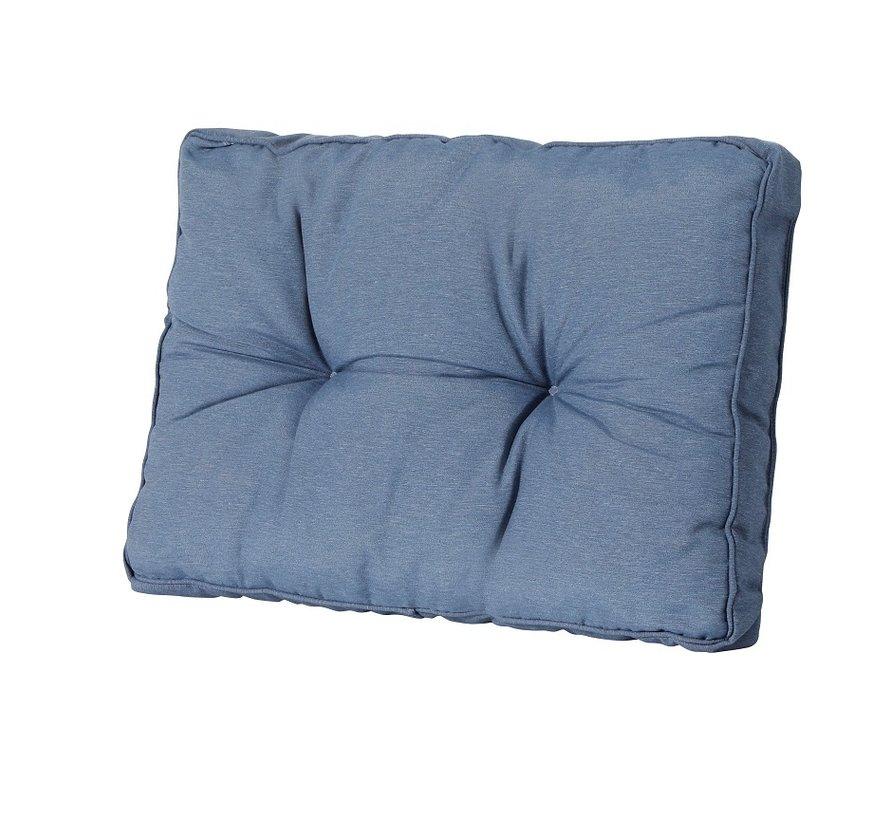 Florance Palettenkissen mit 1 Rückenkissen für Ihre Loungegarnitur | 73x73cm | Panama Saphir Blau