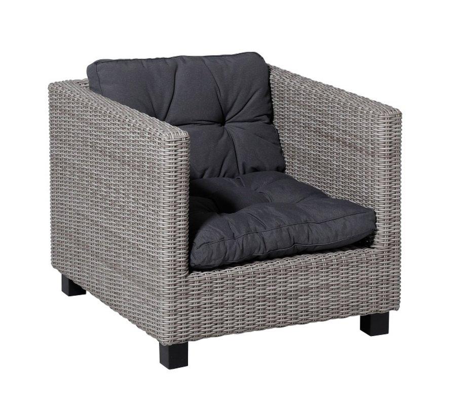 Florance Zitkussen met 1 Rugkussen voor uw Lounge- of Tuinset | 73x73cm | Panama Grijs