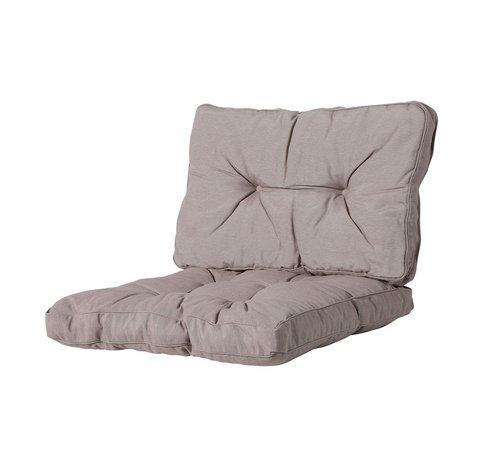 Madison Florance Palettenkissen mit 1 Rückenkissen für Ihre Loungegarnitur | 73x73cm | Panama Taupe