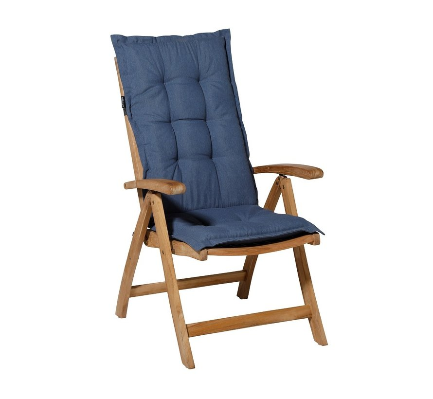 Madison Stuhlauflage Hochlehner Saphir Blau 123cm
