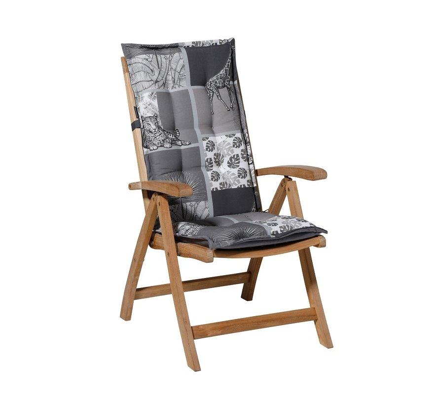 Madison stoelkussen hoge rug Sifra Grijs 123cm