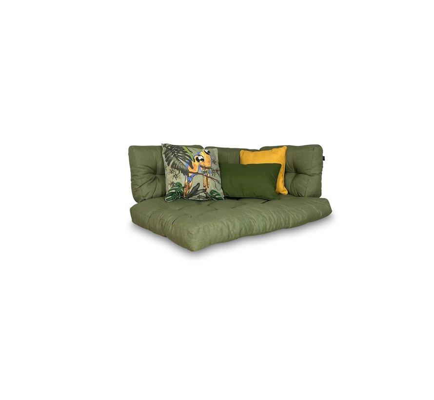 Set mit 3 dekorativen Kissen l Grün   Gelb   Riff Grün