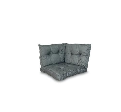 Madison Sitzkissen und Rückenkissen für Loungemöbel und Garnitur 3-teilig | Rib Grau