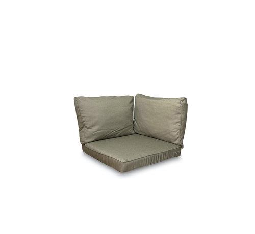 Madison Sitzkissen und Rückenkissen für Loungemöbel und Garnitur 3-teilig   Rib Taupe