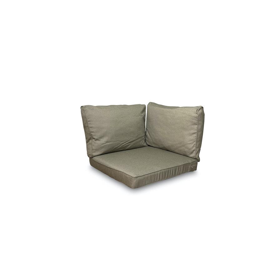 Sitzkissen und Rückenkissen für Loungemöbel und Garnitur 3-teilig   Rib Taupe