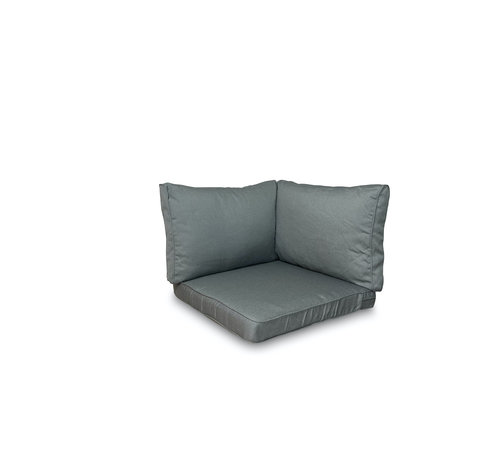 Madison 3-delige Lounge kussenset  voor in uw loungeset of tuinset | Rib Grijs