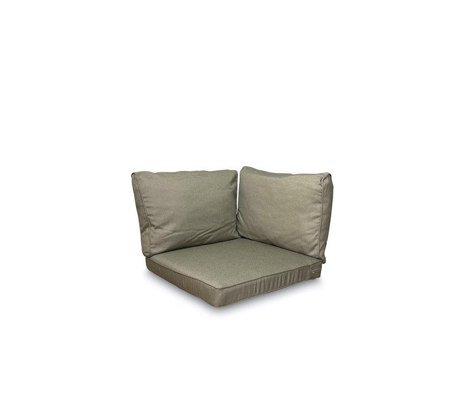 3-delige Lounge kussenset  voor in uw loungeset of tuinset | Rib Taupe