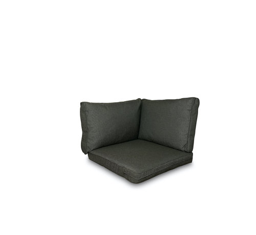 Madison Sitzkissen und Rückenkissen für Loungemöbel und Garnitur 3-teilig   Rib Schwarz