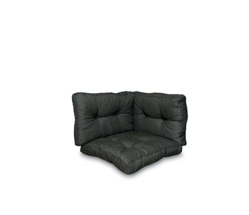 Madison Florance 3-delige 73x73cm kussenset | Rib Zwart
