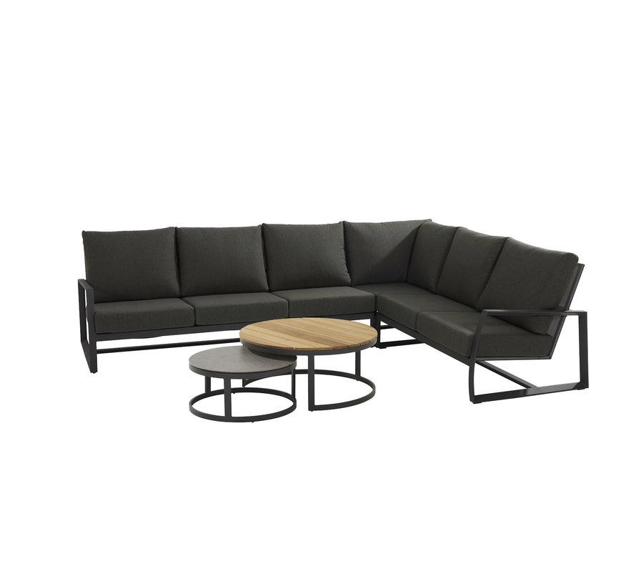 New Mauritius 6-teilig Loungemöbelset  mit rundem Kaffee-Tisch