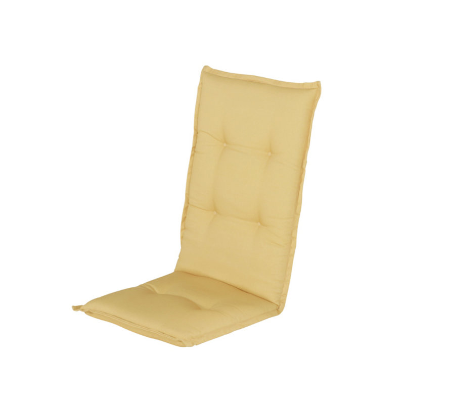 Hartman stoelkussen hoge rug Cuba Geel 123cm
