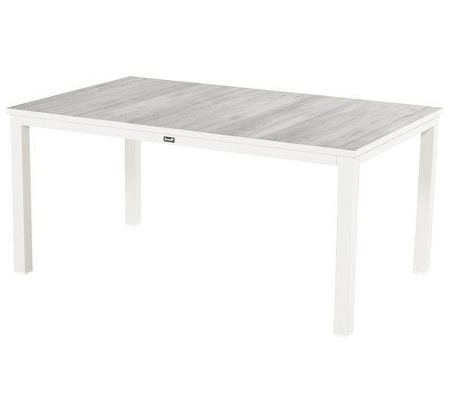 Hartman Comino Aluminium Gartentisch 160cm Weiß - Keramisch