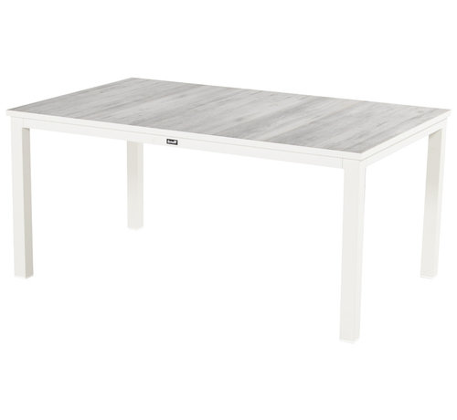 Hartman Comino aluminium tuintafel 160cm dining wit - Keramiek