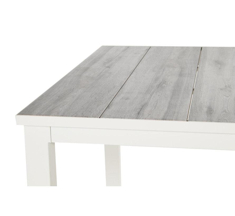Comino aluminium tuintafel 220cm dining wit - Keramiek